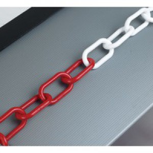 Plastic Chain 6mm Red/White 360074