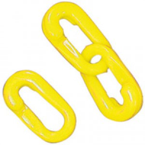 Connecting Links 6mm Joint Pack of 10 Yellow 360083