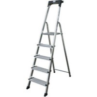 Comfort Aluminium Steps 5-Tread Silver 360996
