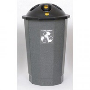 General Waste Bank Closed Flap Black/Granite 361032