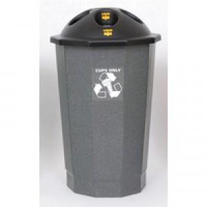 General Waste Bank Closed Flap Black/Granite 361032