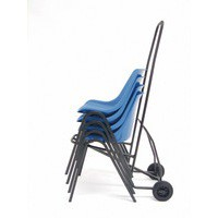 Chair Trolley Black 366040