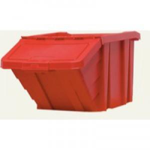 Heavy Duty Storage Bin with Lid Red 369045