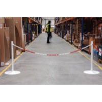 Steel Post 80cm Socket Pack 2 White 370448