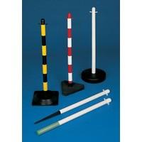 Freestanding Post Square Rubber Base Yellow/Black 371442