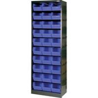 Metal Bin Cupboard with 30 Polypropylene Bins Dark Grey/Black 371834