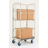 Nesting Roll Cage Container Grey 372144