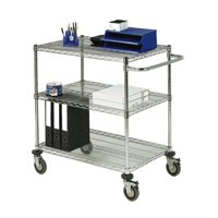 Mobile Trolley 3-Tier Chrome 372996
