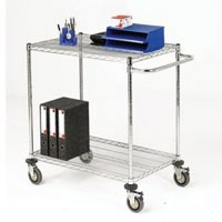 Mobile Trolley 2-Tier Chrome 372997