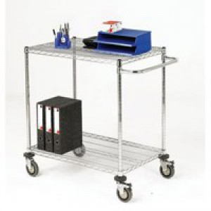 Mobile Trolley 2-Tier Chrome 372999