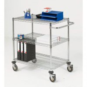 Mobile Trolley 3-Tier Chrome 373002