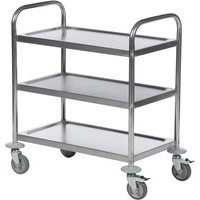 Trolley 3-Tier Stainless Steel Silver 373229