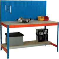 Workbench with Backboard 1200x750mm Blue/Orange 375517