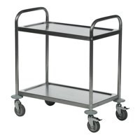 Economy Stainless Steel 2-Shelf Trolley 375608