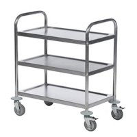 Economy Stainless Steel 3-Shelf Trolley 375609