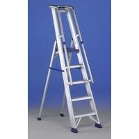 Aluminium Step Ladder with Platform 5 Steps 377855