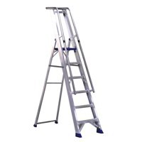 Alumiunium Step Ladder with Platform 7 Steps 377857