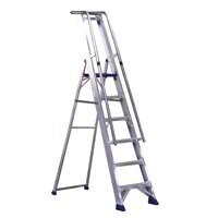 Alumiunium Step Ladder with Platform 8 Steps 377858