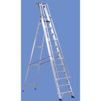 Alumiunium Step Ladder with Platform 12 Steps 377861