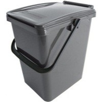Solid Walled Kitchen Caddy 10 Litre Brown 378479
