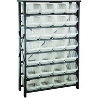 Storage Bin Rack with 28 Large Bins Black 381005