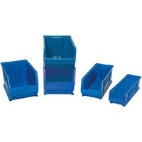 Small Parts Storage Bin Blue 381943
