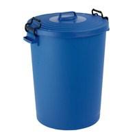 Light Duty Dustbin with Lid 110 Litre Blue 382066