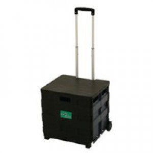 Folding Container Trolley with Lid 383360