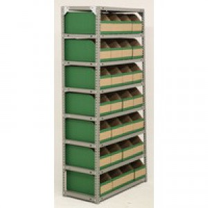 Bolt Kit 1800x900x400mm 8-Shelves 28 Bins Grey 383651