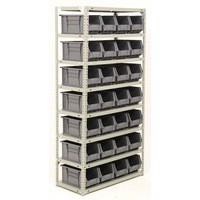 Image for Bolt Kit 1800X900X400mm 9-Shelves 40 Bins Grey 383652