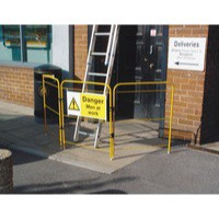 Safety Sign Men At Work 300x600mm Rigid Yellow 306410