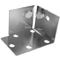 Steel Foot Plates Shelving Bolts Not Included Grey 380011