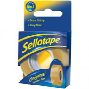 Sellotape Original Golden Tape Roll Non-static Easy-tear Retail Pack 18mmx25m Ref 1443169 [Pack 8]