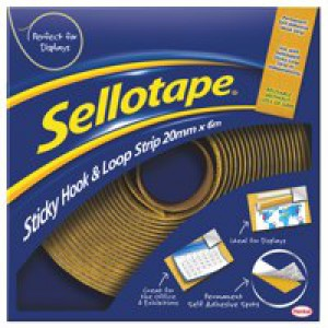 Sellotape Sticky Hook and Loop 6 Metre Strip 4100 830278