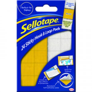 Sellotape Sticky Hook and Loop Pad Wallet 24 504049