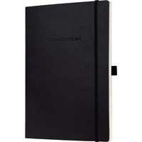 Sigel Conceptum Notebook Lined 187x270x13mm Black CO212