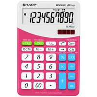 Sharp Desktop Calculator with Tax Conversion Function Pink ELM-332BPK