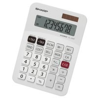 Sharp Desktop Calculator Solar/Battery-power 8 Digit 3 Key Memory W147D102xH31mm Ref EL330FB