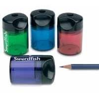 Swordfish Pencil Sharpener Canister Single-Hole Assorted 40032