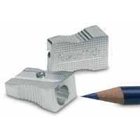 Swordfish Pencil Sharpener Metal Wedge Single-Hole Silver Pack of 20 40210
