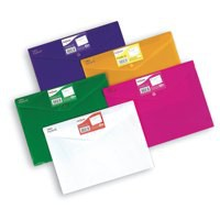 Snopake Polyfile ID Wallet A4 Bright Colours Assorted Pk 5 12565