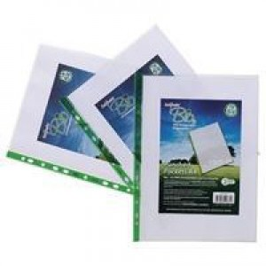 Snopake Biodegradable Punched Pockets Pack 100 Code 15440