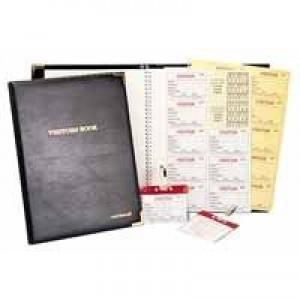 Identibadge Visitors Book Complete Black IBVBSYS