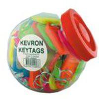 Kevron Plastic Clicktag Key Tag Giant Assorted Tub of 70 ID30AC70