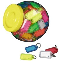 Image for Kevron Plastic Clicktag Key Tag Assorted Pack of 100 ID5AC100