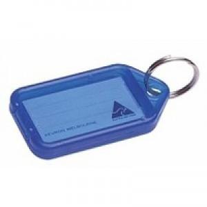 Kevron Plastic Clicktag Key Tag Blue Pack of 100 ID5BLU100