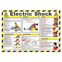 Health and Safety Poster Electric Shock 420x590mm FA551
