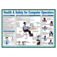 General Sign 420x590mm Health and Safety Computer Operators FA602