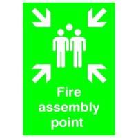 Safety Sign Fire Assembly Point A2 PVC FR04548R