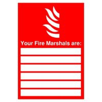 Safety Sign Your Fire Marshalls A4 PVC Code FR09850R